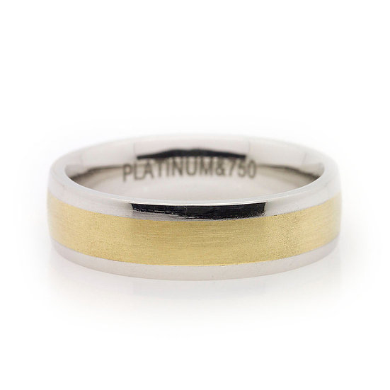 Gents Platinum & Gold Wedding Ring