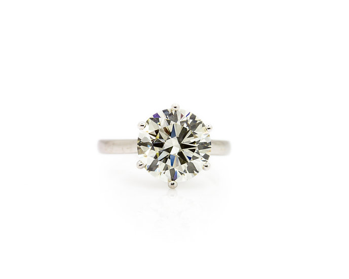 5 Carat Diamond Solitaire Ring view 1