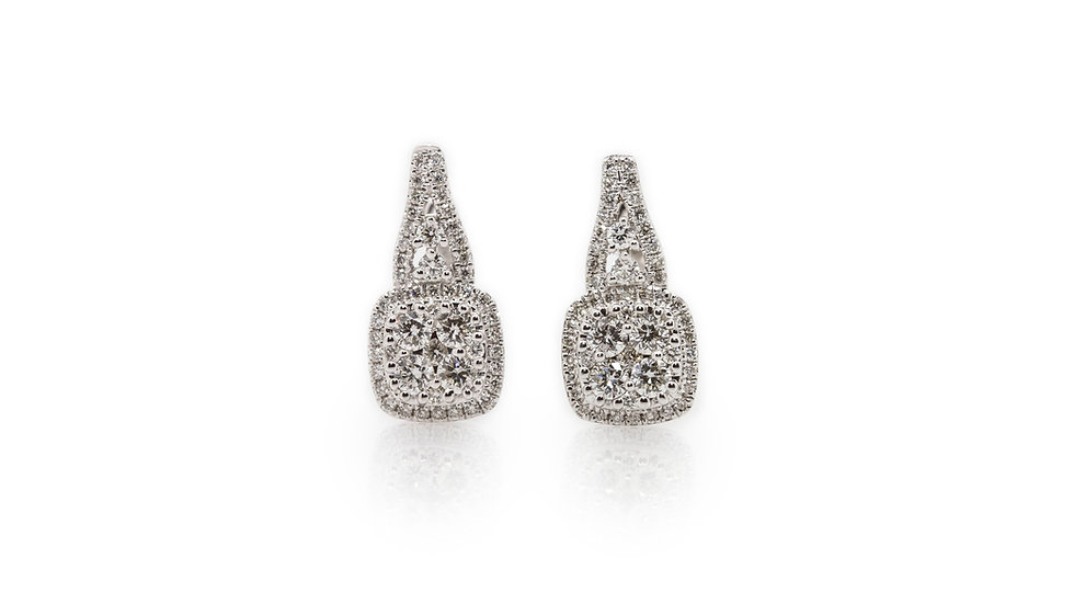 Diamond Cluster Earrings view 1