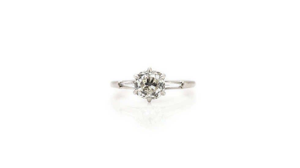 Vintage Diamond Solitaire Ring view 1