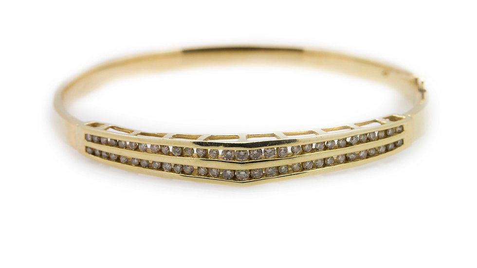 1.86ct Diamond Bangle