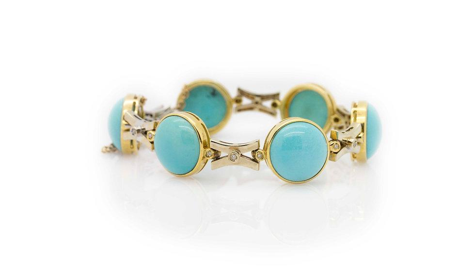 Turquoise & Diamond Bracelet view 1
