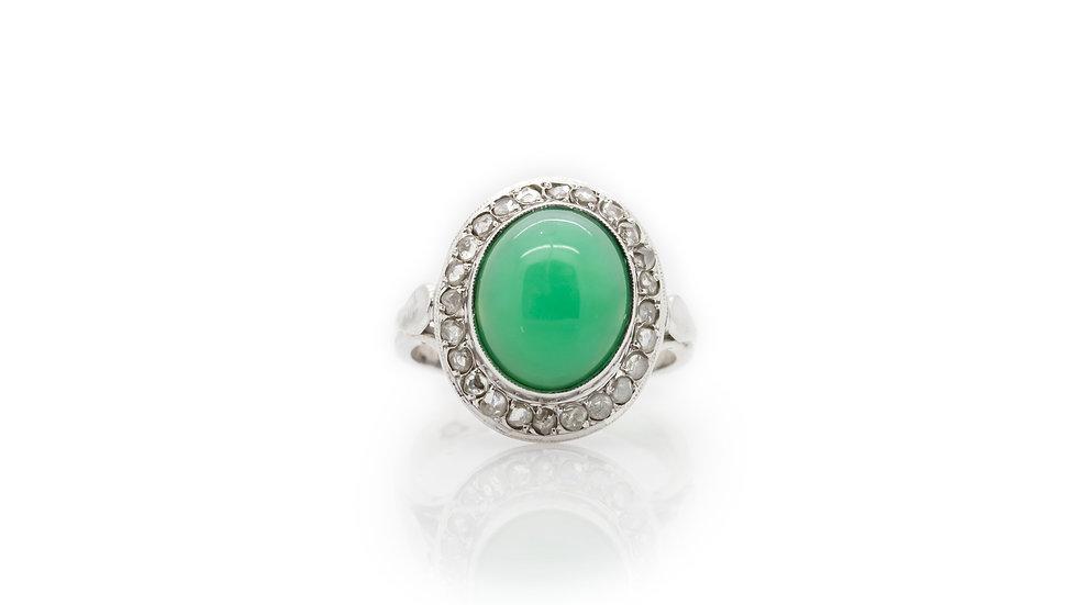 Cabochon Jade Ring view 1