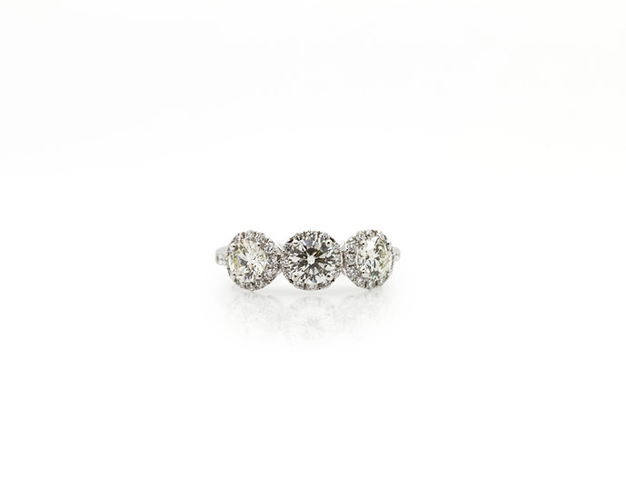 Trilogy Diamond Ring front view