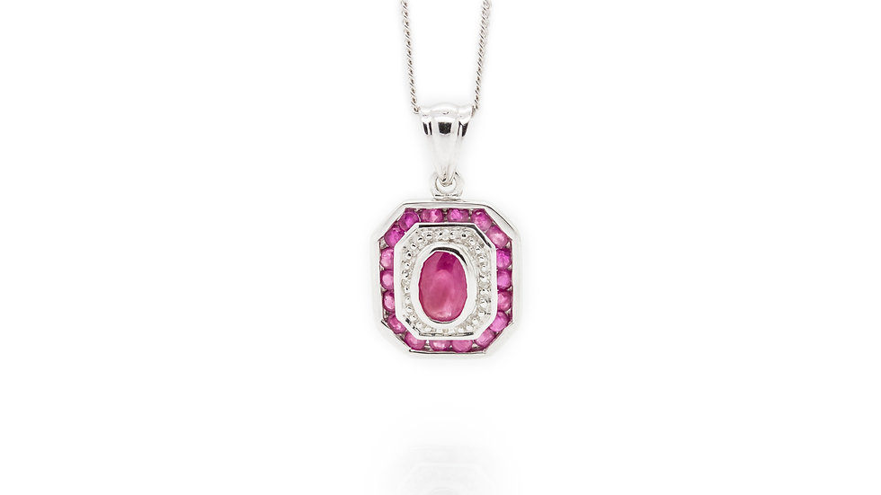 Ruby & Diamond Pendant view 1