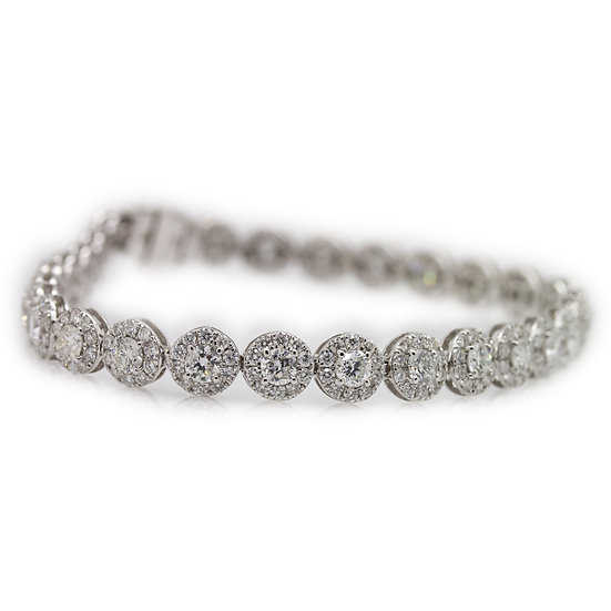 Cluster Diamond Tennis Bracelet
