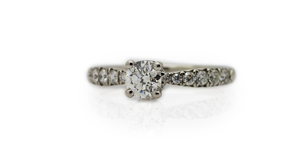 Raphael Platinum Four Claw Diamond Engagement Ring