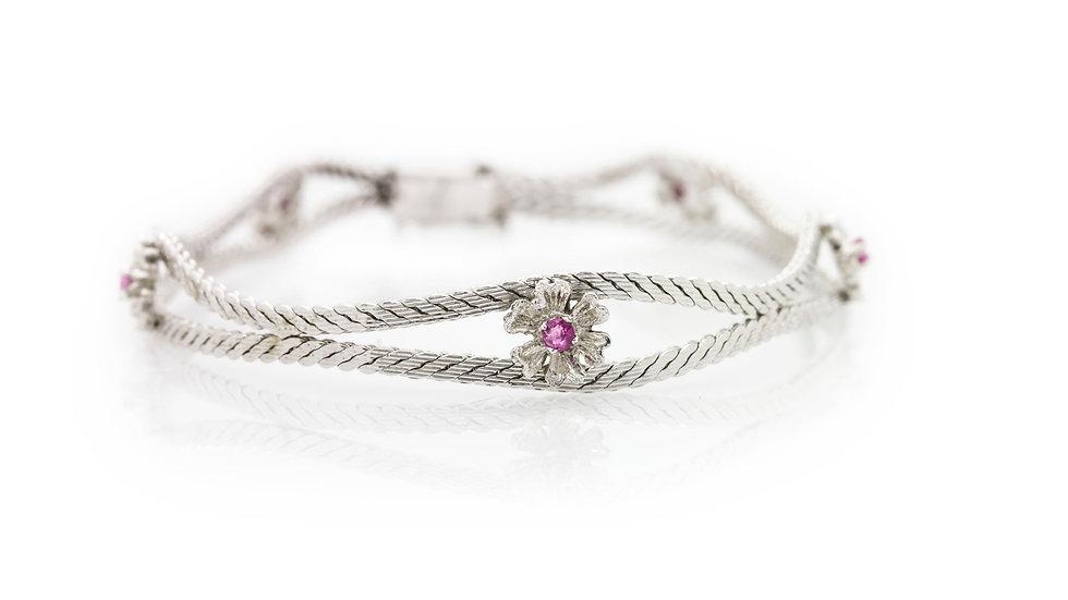 Ruby Flower Bracelet