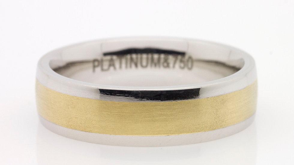 Mens Platinum & Gold Wedding Ring
