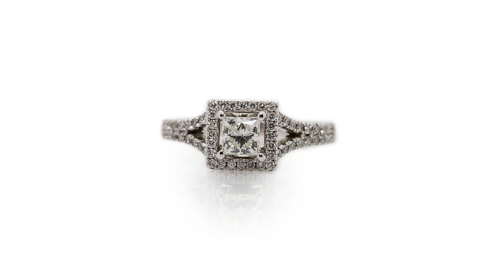 Princess Diamond Ring With Halo view 1