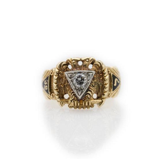 Knights Templar  Diamond Ring front view