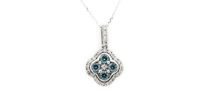 Blue Diamond Pendant
