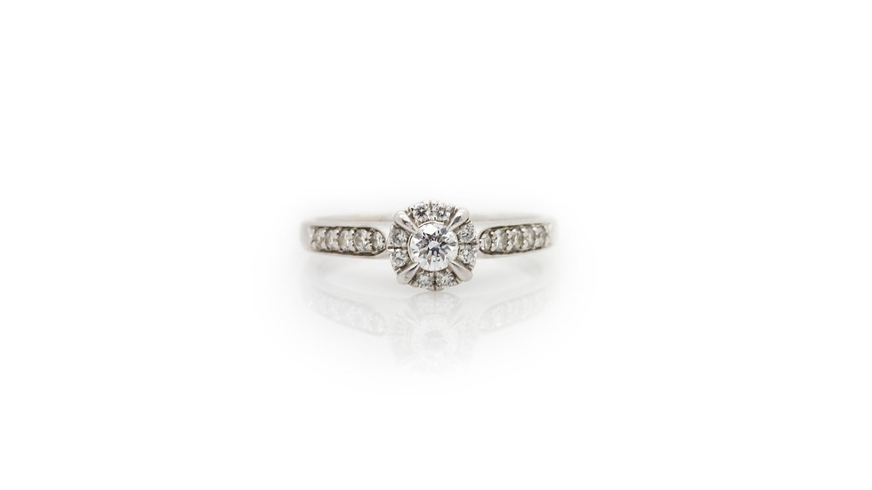 Platinum Solitaire grosvenor jewellers view 1