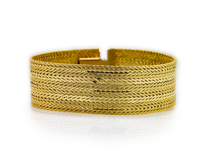 Yellow Gold Mesh Bracelet
