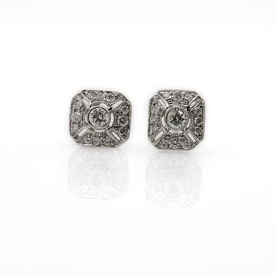 Art Deco Style Diamond Earrings