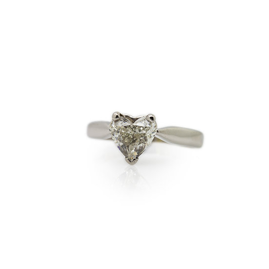 Heart Cut Diamond Solitaire Ring