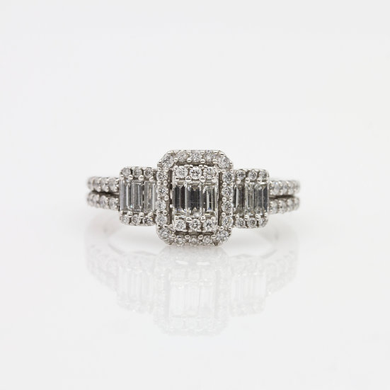 Platinum Trilogy Diamond Ring