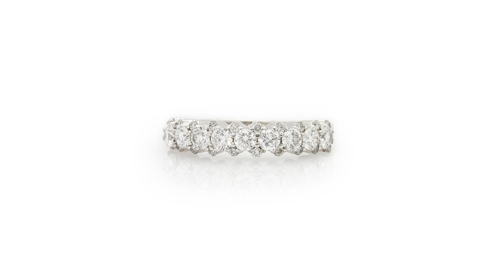 Half Eternity Diamond Ring Grosvenor Jewellers view 1