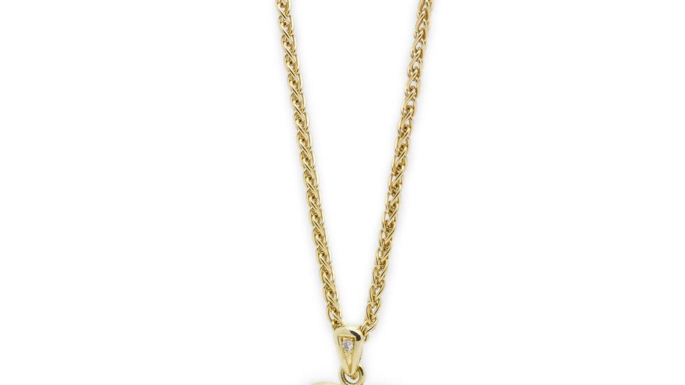 Diamond Heart Necklace Mulroy & Grosvenor Antiques view 1