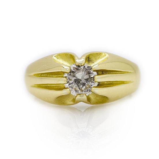 Gents 18ct Gold Diamond Ring