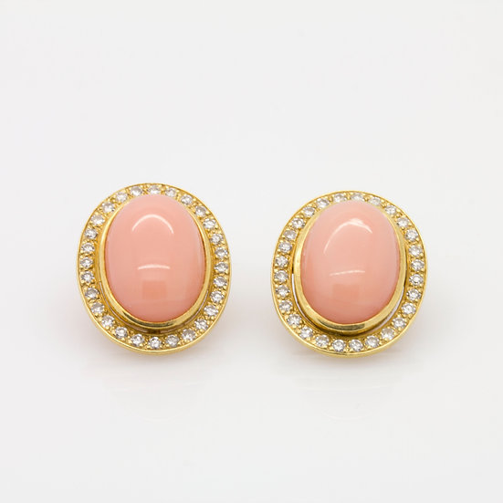 Clip On Coral Earrings