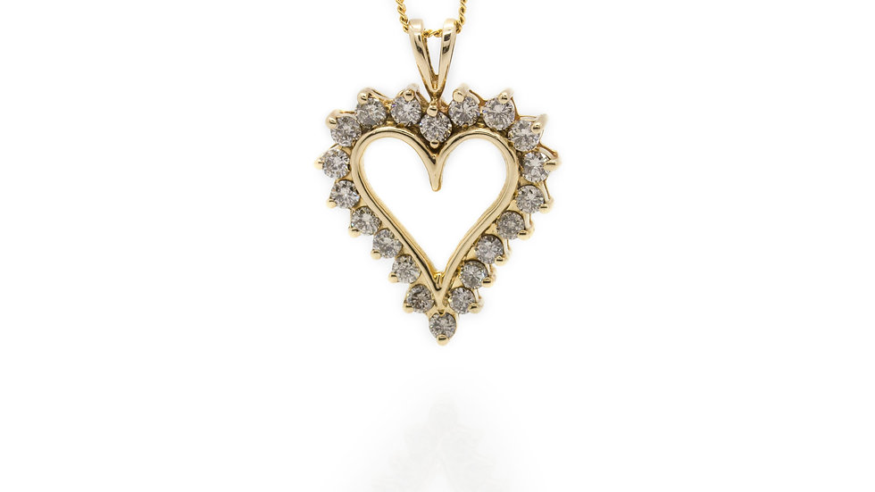 Diamond Heart pendant Newcastle Upon Tyne