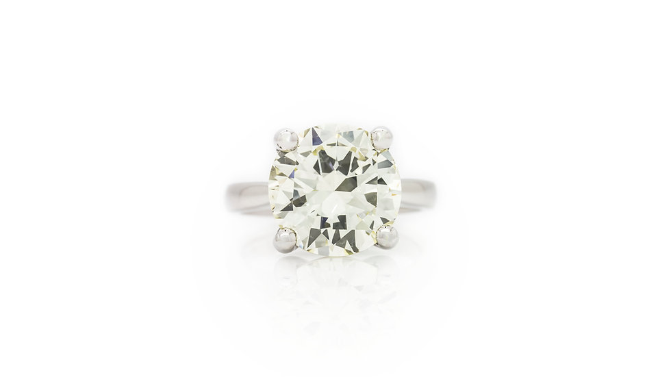 Diamond Solitaire 6.20ct view front