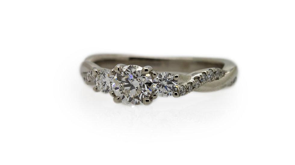 Raphael Platinum Trilogy Diamond Ring
