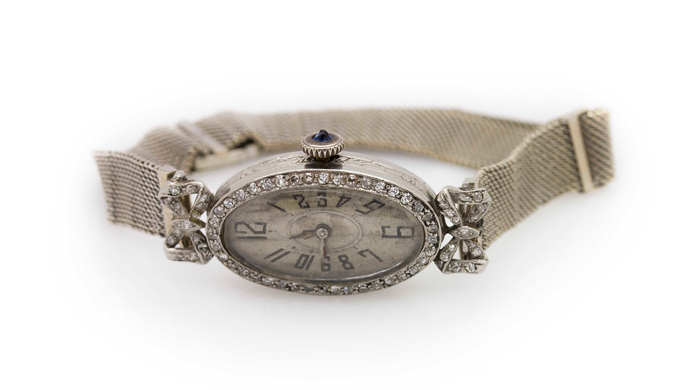 vintage ladies watch with diamonds