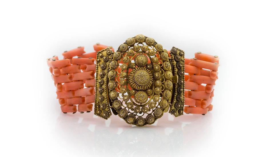 Victorian Coral Bracelet front view