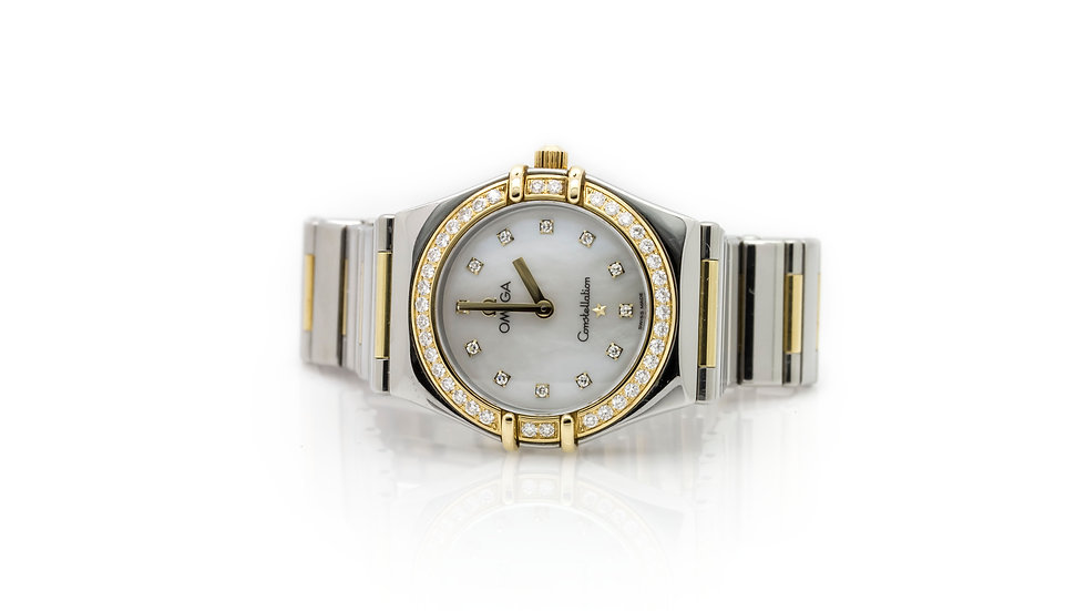 Omega Ladies Two-Tone Diamond Dial Watch view 1