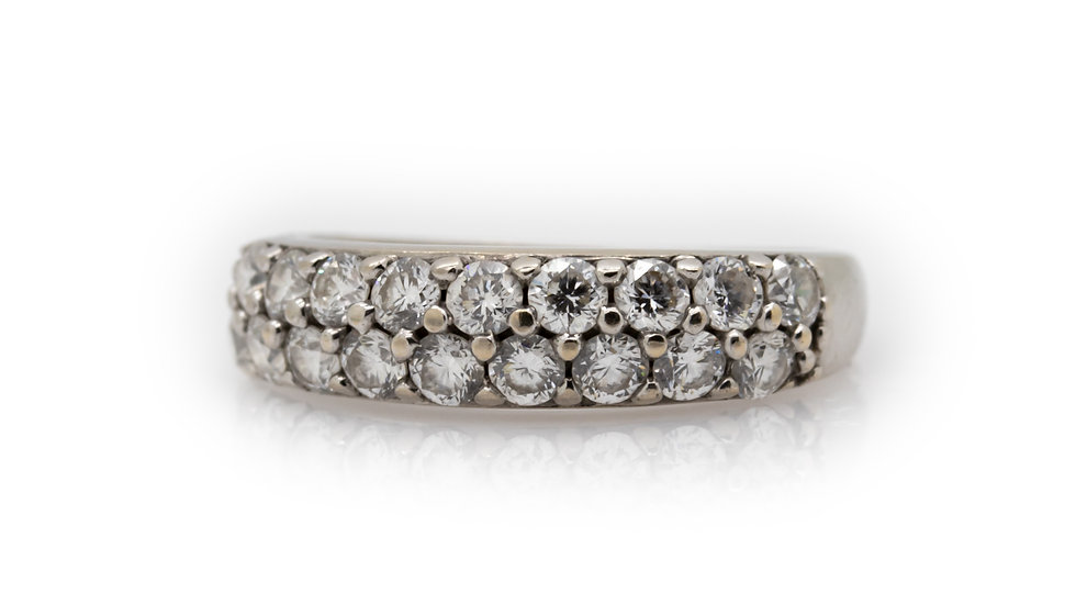 2 Row Diamond Ring