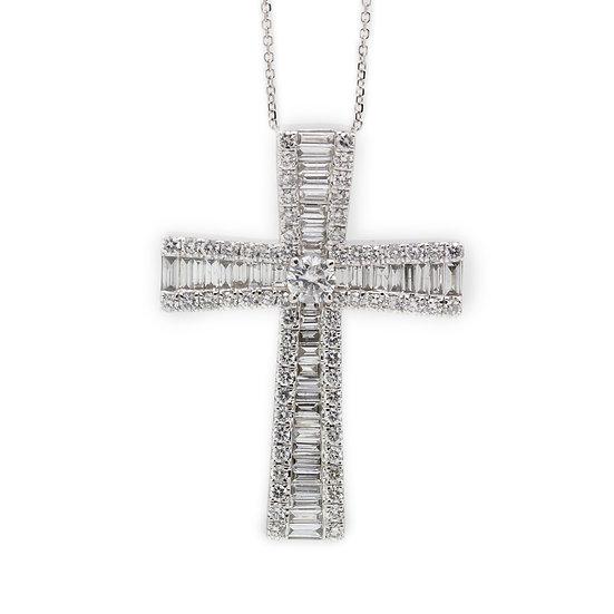 9ct Diamond Cross