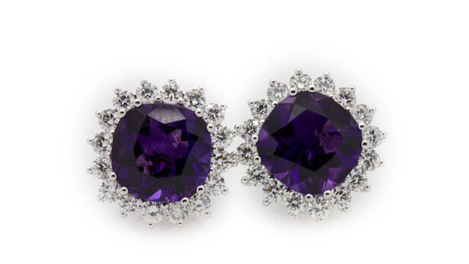 3 Carat Amethyst Earrings