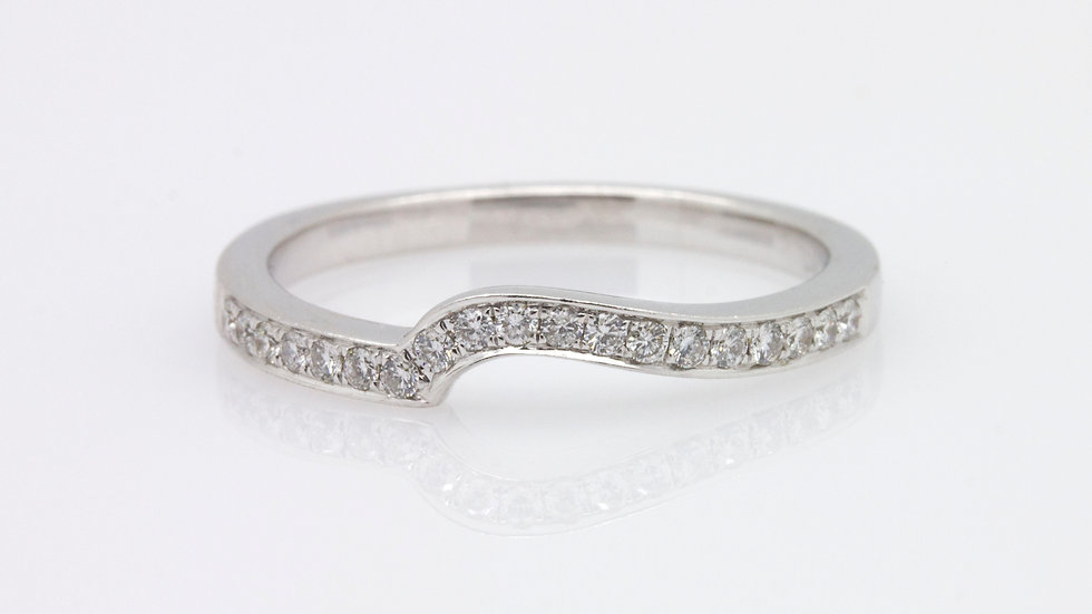 Wed Cut White Gold Diamond Band