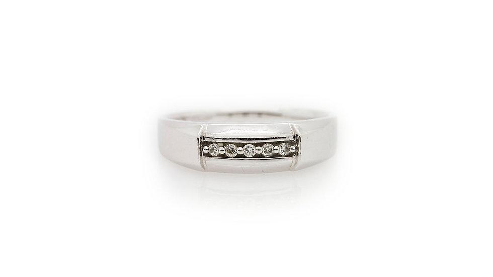 White gold Mens Diamond Wedding Ring