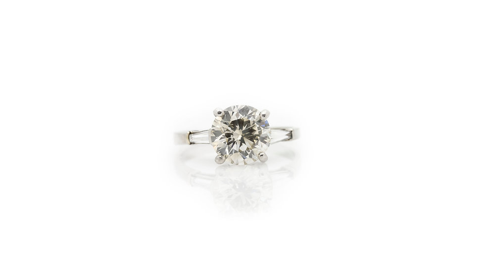 Diamond Solitaire front view 3ct