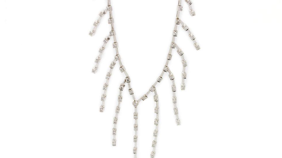 Art Nouveau Strand Diamond Necklace