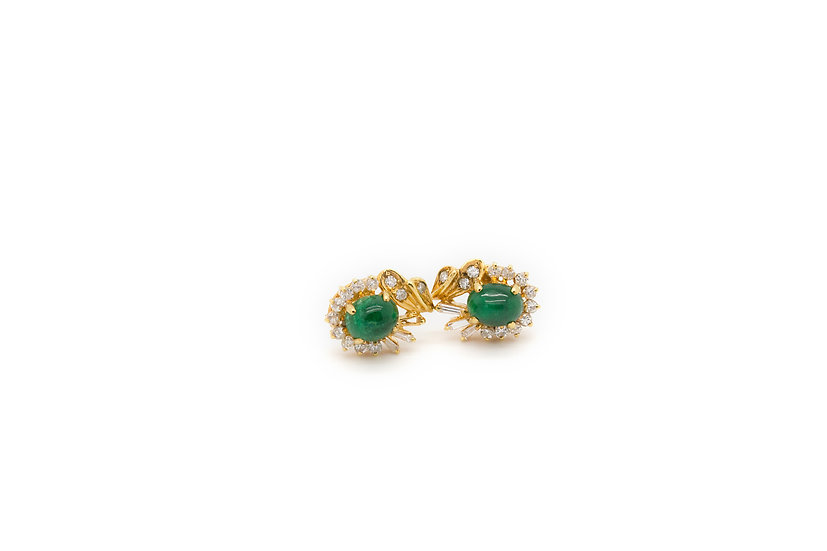Emerald 18ct Gold Earings