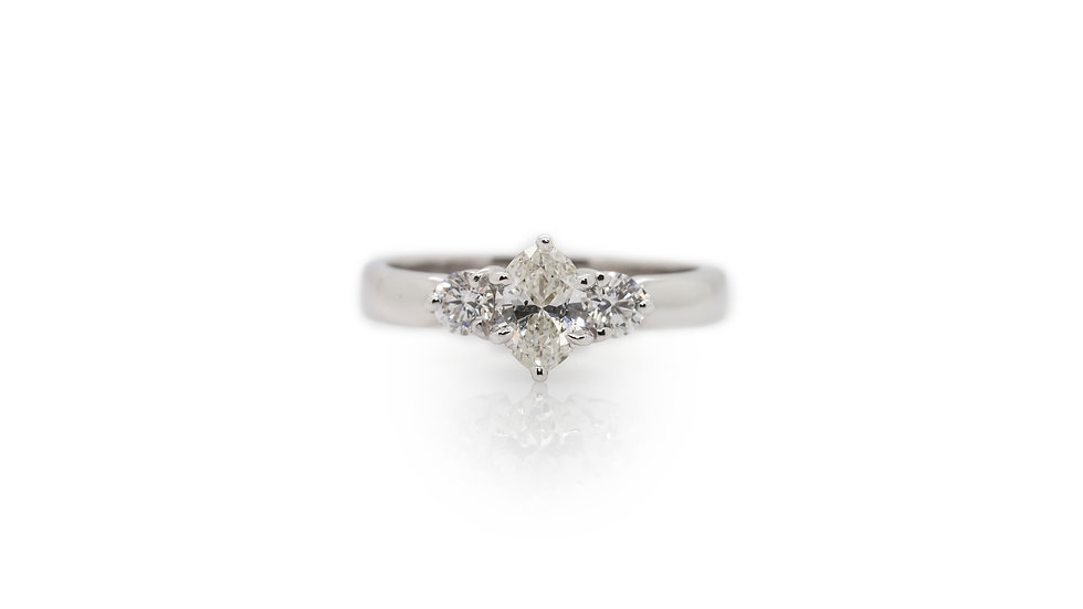Marquise Diamond Trilogy Ring view 1