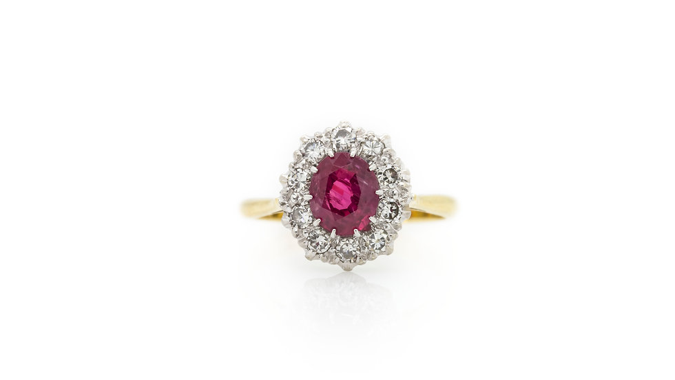 Ruby & Diamond Ring Mulroy Antiques View 1