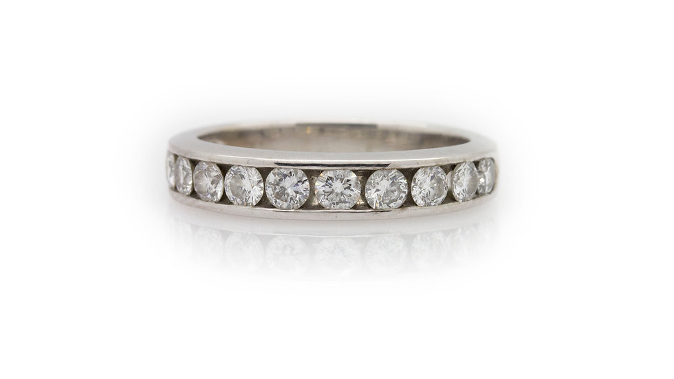Diamond Half Eternity Ring front view