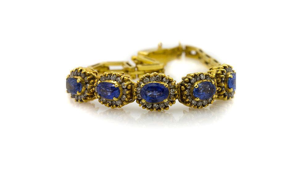 Sapphire & Diamond Bracelet Mulroy Antique's