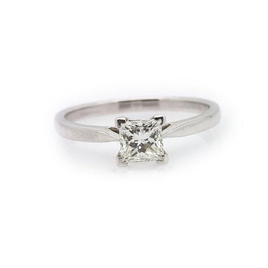Princess Cut Solitaire Diamond Ring