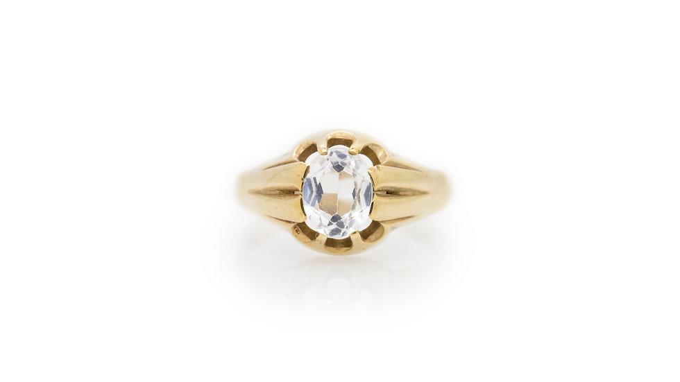 Mens Aquamarine Gold Ring