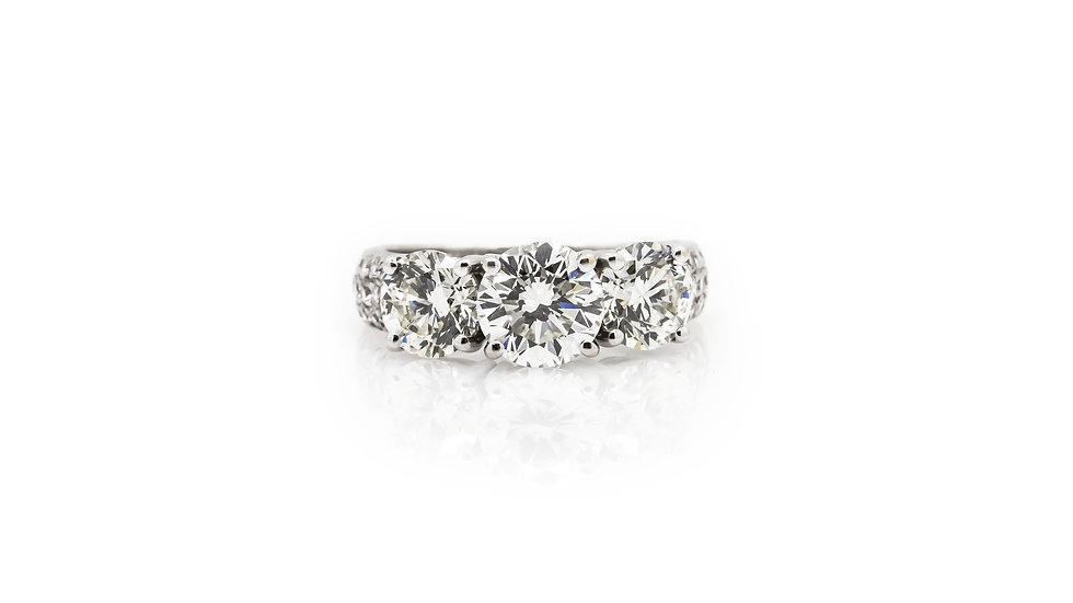 Diamond Trilogy Ring view 1