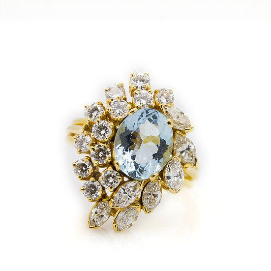 Aquamarine & Diamond Jewellery Set