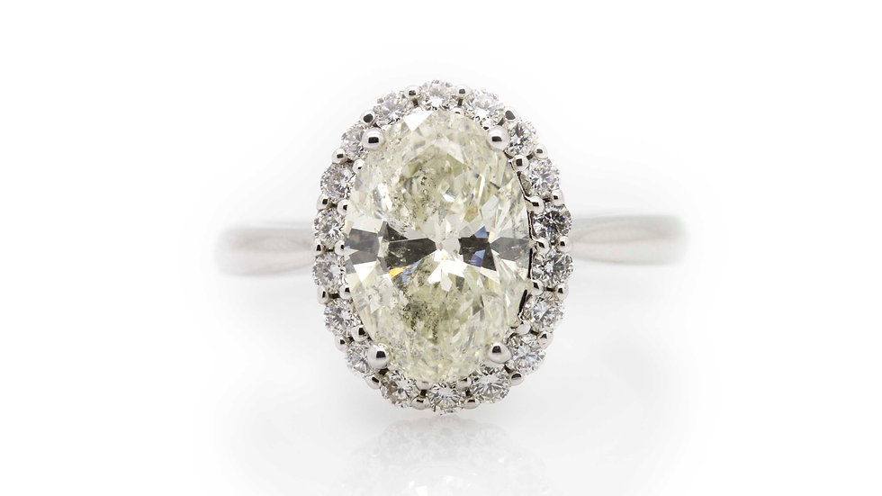 3.75ct Oval Diamond Ring view 1