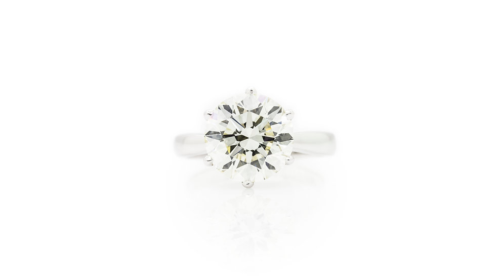 Diamond Solitaire 4.50ct front view