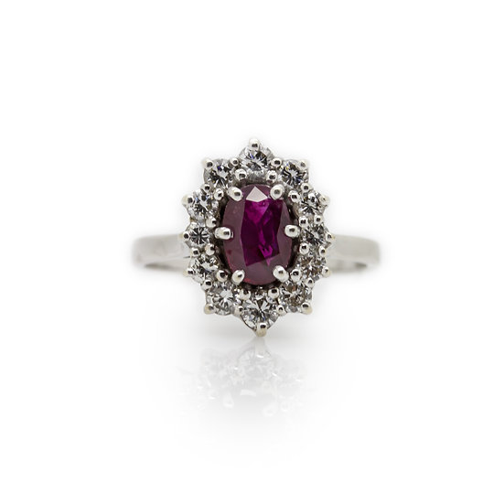 French Ruby & Diamond Ring mulroy antiques